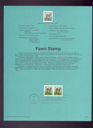 USPS Souvenir Page 91-9   2487      19c Fawn 91-9