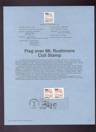 USPS Souvenir Page 91-10   2523      29c Mt. Rushmore C 91-10