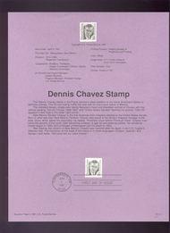 USPS Souvenir Page 91-11   2185      35c Dennis Chavez 91-11