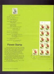 USPS Souvenir Page 91-12   2524-27a    29c Flower 91-12