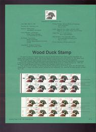 USPS Souvenir Page 91-14   2493a/2494a  29c Duck Bklts 91-14