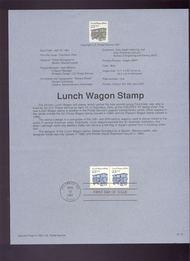 USPS Souvenir Page 91-15   2464      23c Lunch Wagon Co 91-15