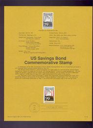 USPS Souvenir Page 91-18   2354      29c Savings Bond 91-18