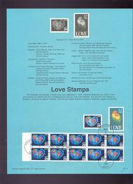 USPS Souvenir Page 91-19   2535/36a/37  29c/52c Love 91-19