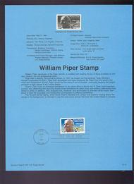USPS Souvenir Page 91-21   C129      40c Piper 91-21