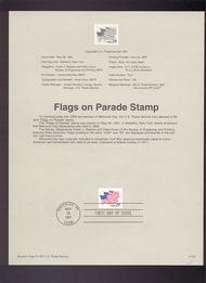 USPS Souvenir Page 91-25   2531      29c Flags on Parad 91-25