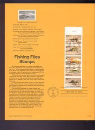 USPS Souvenir Page 91-26   2549a     29c Fishing Flies, 91-26