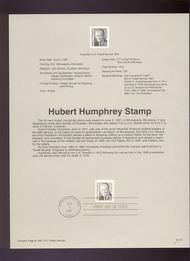 USPS Souvenir Page 91-27   2190      52c Hubert H. Hump 91-27