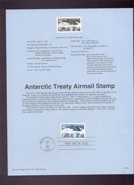 USPS Souvenir Page 91-29   C130      50c Antartctic Tre 91-29