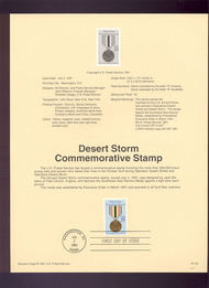 USPS Souvenir Page 91-32   2551      29c Desert Storm 91-32