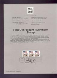 USPS Souvenir Page 91-33   2523A     29c Mt. Rushmore 91-33