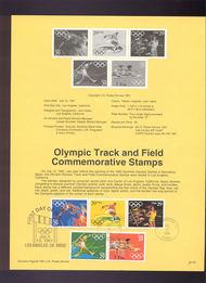USPS Souvenir Page 91-34   2553-7     29c Olympics 91-34