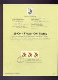 USPS Souvenir Page 91-35   2525      29c Flower Roulett 91-35