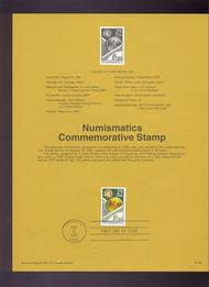 USPS Souvenir Page 91-36   2558      29c Numismatics 91-36