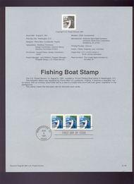 USPS Souvenir Page 91-48   2529      19c Fishing Boat 91-48