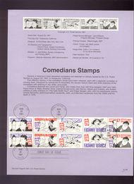 USPS Souvenir Page 91-49   2562-6     29c Comedians Book 91-49