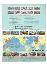 USPS Souvenir Page 91-50   2559      29c World War II S 91-50