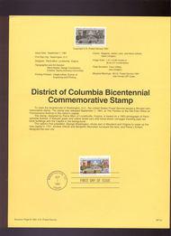 USPS Souvenir Page 91-51   2561      29c District of Co 91-51