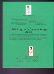 USPS Souvenir Page 91-53   2539      $1.00 Olympics 91-53