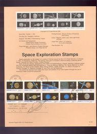 USPS Souvenir Page 91-54   2568-77    29c Space Booklet 91-54