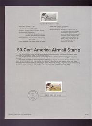 USPS Souvenir Page 91-55   C131      50c America 91-55