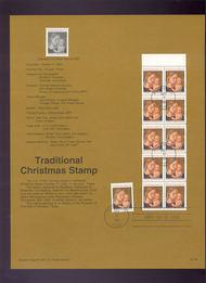 USPS Souvenir Page 91-56   2578,78a    (29c) Trad Christm 91-56