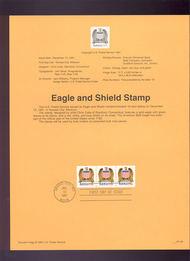 USPS Souvenir Page 91-59   2604      (10c) Eagle & Shie 91-59