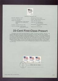 USPS Souvenir Page 91-60   2607      23c Flag Coil 91-60