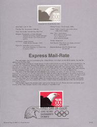 USPS Souvenir Page 91-61   2541      $9.95 Express Mail 91-61
