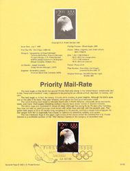 USPS Souvenir Page 91-62   2540      $2.90 Priority Mai 91-62