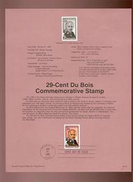 USPS Souvenir Page 92-3   2617      29c W.E. Dubois 92-3