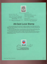 USPS Souvenir Page 92-4   2618      29c Love 92-4