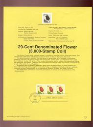 USPS Souvenir Page 92-6   2526      29c Flower 92-6
