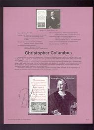 USPS Souvenir Page 92-12-7  2624-9    Columbus Souv Shee 92-12-7