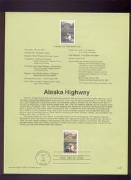 USPS Souvenir Page 92-19   2635      29c Alaska Highway 92-19
