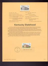 USPS Souvenir Page 92-20   2636      29c Kentucky State 92-20