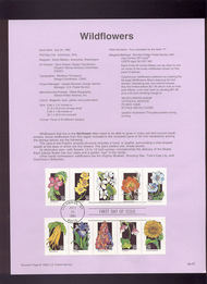 USPS Souvenir Page 92-23-7  2647-92    29c Wildflower s(5 92-23-7