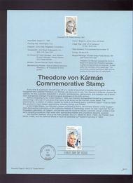 USPS Souvenir Page 92-31   2699      29c von Karman 92-31