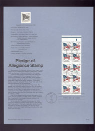 USPS Souvenir Page 92-32   2594      29c Pledge Booklet 92-32