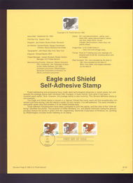 USPS Souvenir Page 92-34   2795-7     29c Eagle/Shield S 92-34