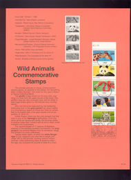 USPS Souvenir Page 92-36   2705-9     29c Animals Bookle 92-36