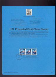 USPS Souvenir Page 92-37   2608      23c Coil 92-37