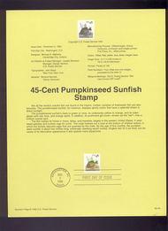 USPS Souvenir Page 92-40   2491      45c Pumpkinseed 92-40