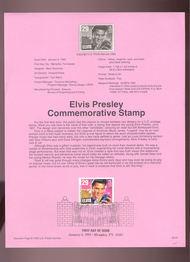 USPS Souvenir Page 93-01   2721      29c Elvis 93-01