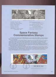 USPS Souvenir Page 93-02   2741-45    29c Space Bklt 93-02