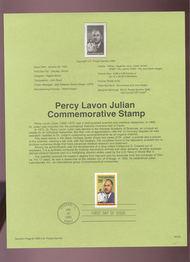 USPS Souvenir Page 93-03   2746      29c Percy Lavon Ju 93-03