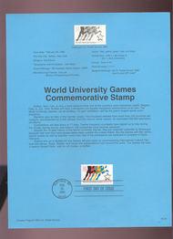 USPS Souvenir Page 93-05   2748      29c Univ Games 93-05