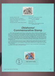 USPS Souvenir Page 93-07   2722      29c Oklahoma 93-07