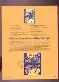 USPS Souvenir Page 93-08   2750-53    29c Circus 93-08