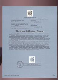 USPS Souvenir Page 93-09   2184B     29c Jefferson 93-09